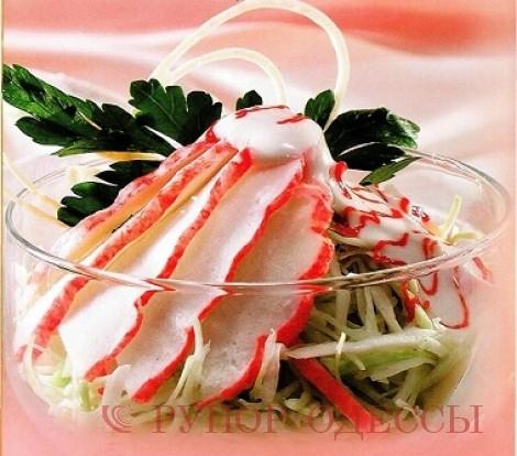 Рецепты салат из мяса краба